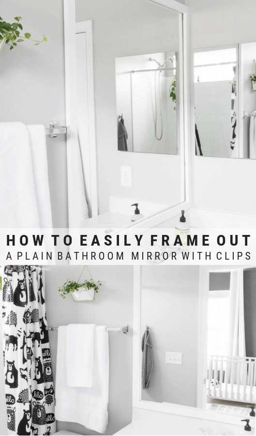 How To Frame A Mirror With Clips How To Glue A Mirror To The Wall Simple Bathroom Diy Home Decor Projects Diy Home Decor
