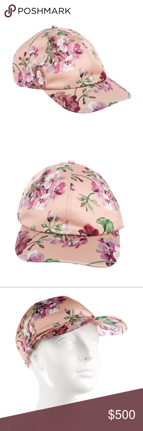 NWT Authentic ⚜️Gucci⚜️ Flora Hat 2018 Blush and