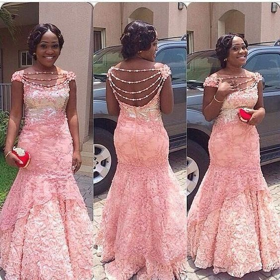 Top Ten Unique And Stylish Aso Ebi Cord Lace Styles Dabonke ...