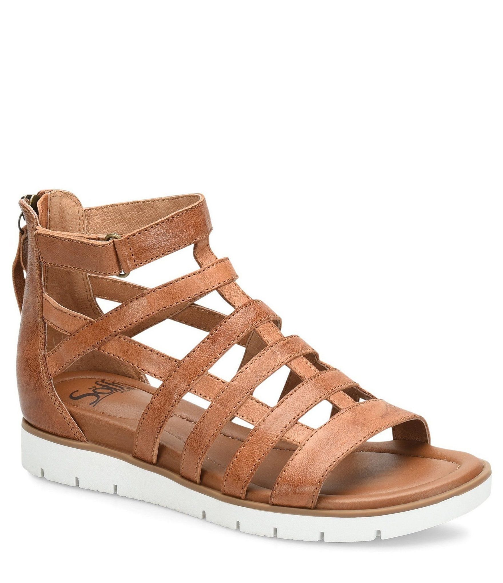 6bdda130400 Sofft Mahari Leather Gladiator Wedge Sandals  Dillards