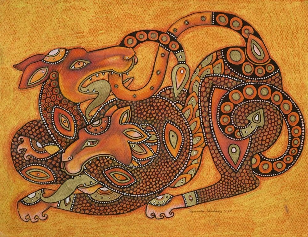 Dragon and Lion Medieval / Celtic / Fantasy Art by ...