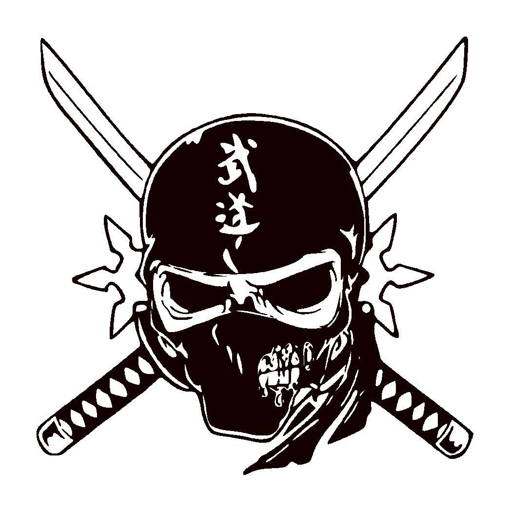 Skull Ninja Unique Vinyl Graphic Decal CAR Window Sticker