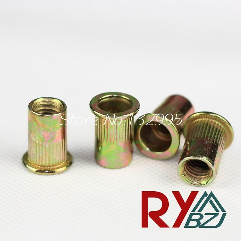 Visit To Buy 1 4 20 Unc Rivet Nut Carbon Steel Flat Head Blind Insert Nut Yellow Zinc Plating Flat Head Rivet Nut Csfh001 Advertisem Flat Head Blinds Steel