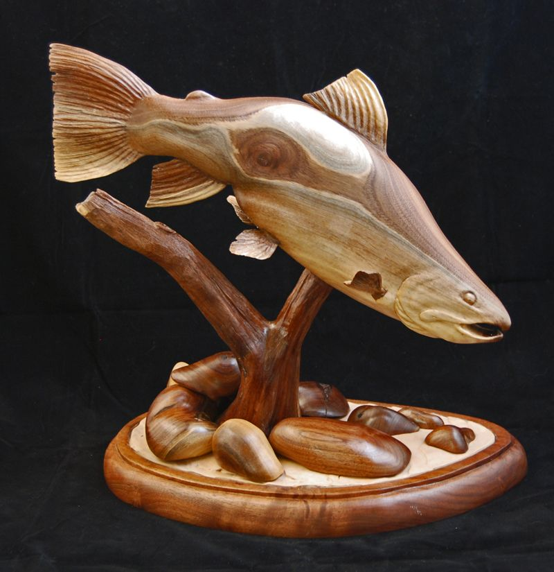 Rdunbarnattroutlg g fish carving pinterest