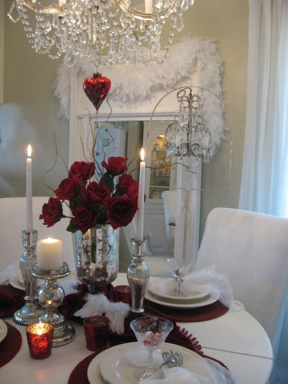 Romantic Dining Room: Valentines Day Dining Room, My Small Dining Room Dressed