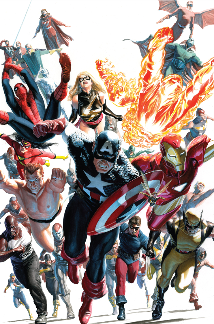#Avengers #Fan #Art. (Marvel-dc-art: Avengers/Invaders #12 cover) By: Alex Ross. ÅWESOMENESS!!!™ ÅÅÅ+                  https://s-media-cache-ak0.pinimg.com/474x/da/a6/fd/daa6fd7f3aae1359a69d2f94c0906797.jpg