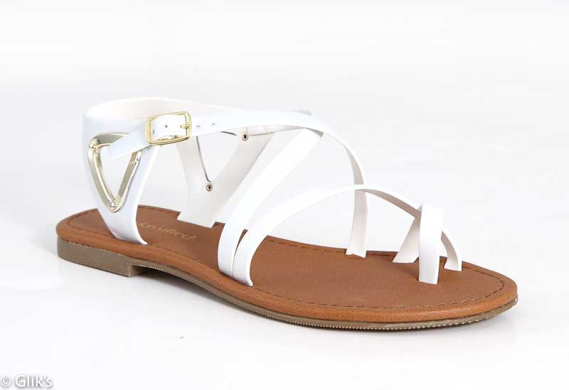 9d91747cdb2 City Classified Valine Gladiator Sandals for Women in White VALINE-S ...