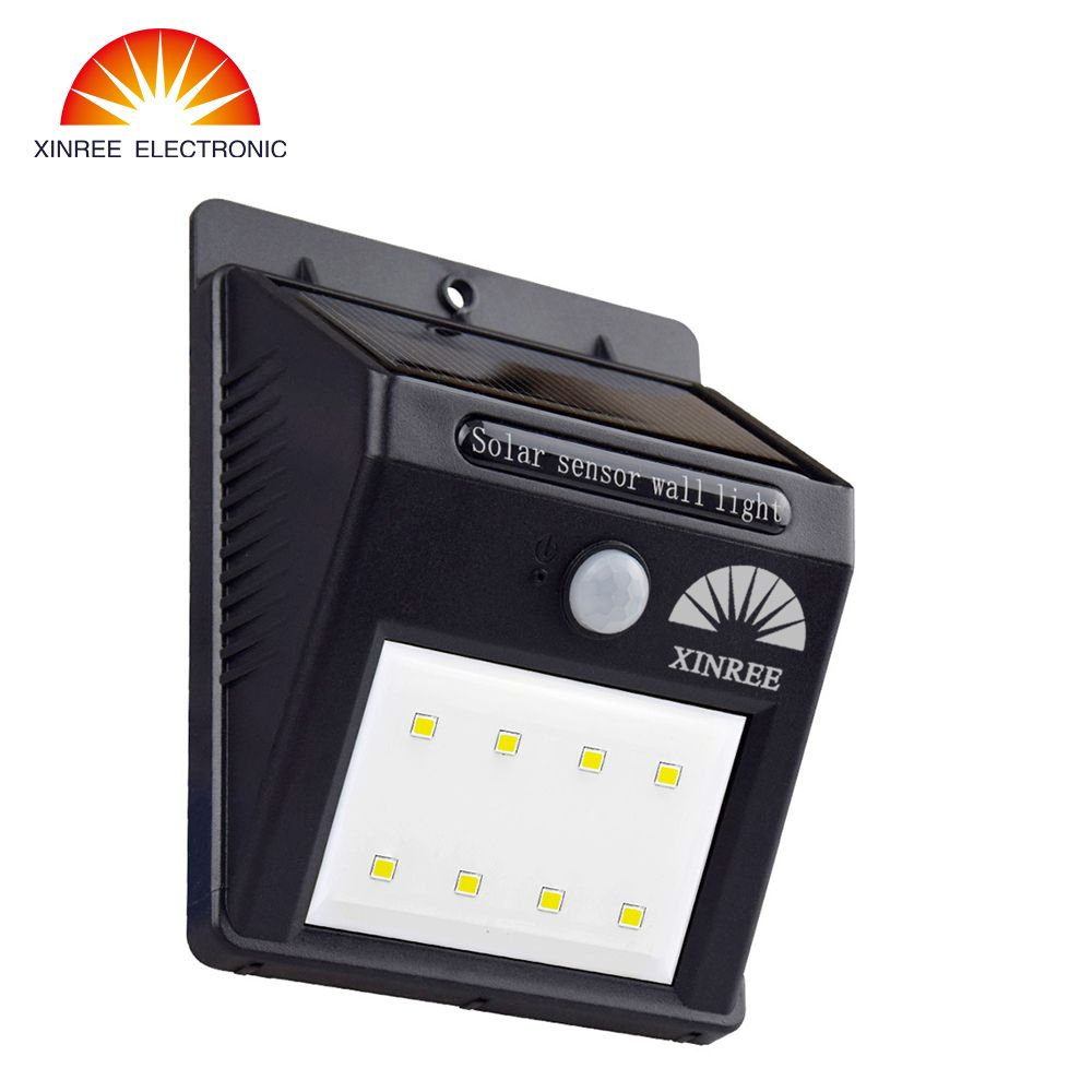 810c xinree 8 led powered motion sensor light outdoor solar lamp