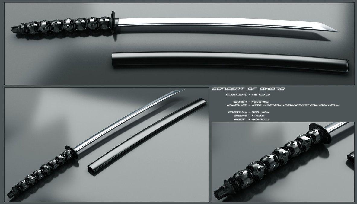 Mercury Katana Sword By Peterku.deviantart.com On