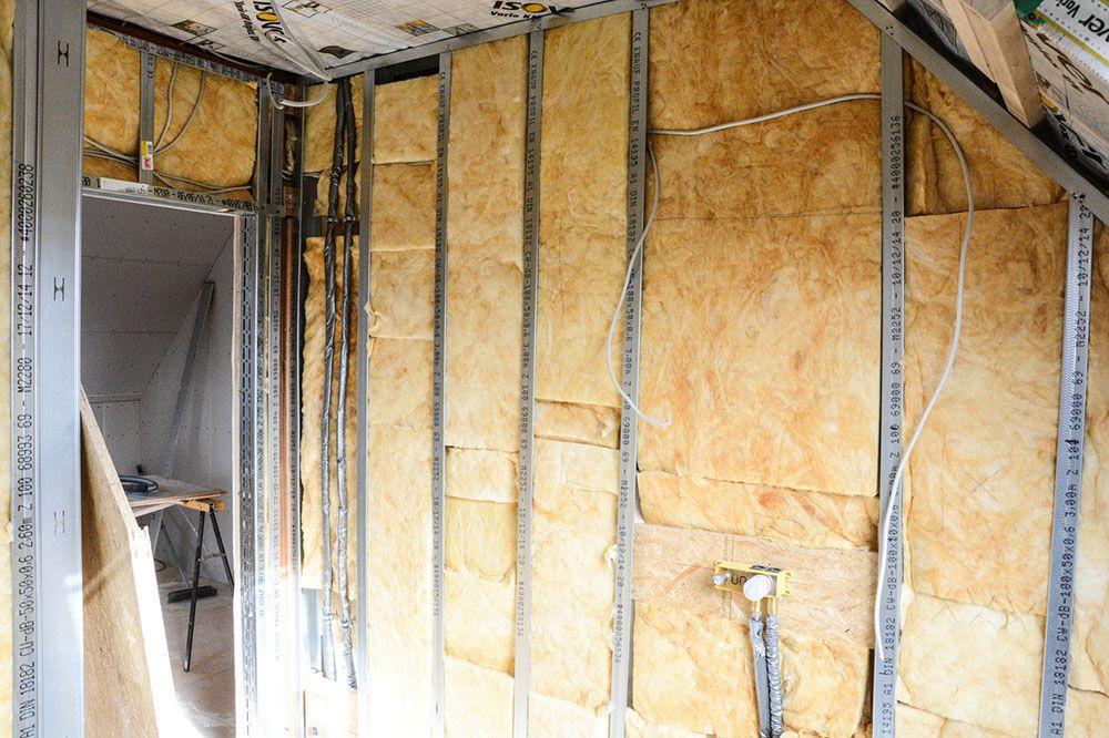 Isoler un mur pas droit Construction - doublage des murs interieurs