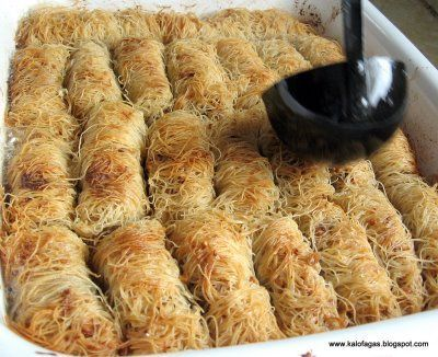 Kataif my dads favorite maybe ill make it for him one day kalofagas greek food beyond by peter minakis katafi a sister dessert to baklava forumfinder Choice Image