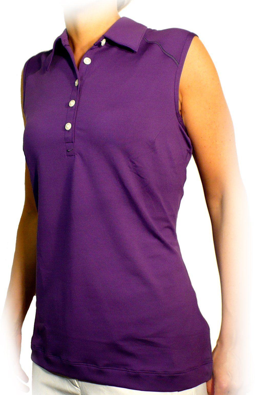Nike womens stitch sleeveless golf polo shirt club