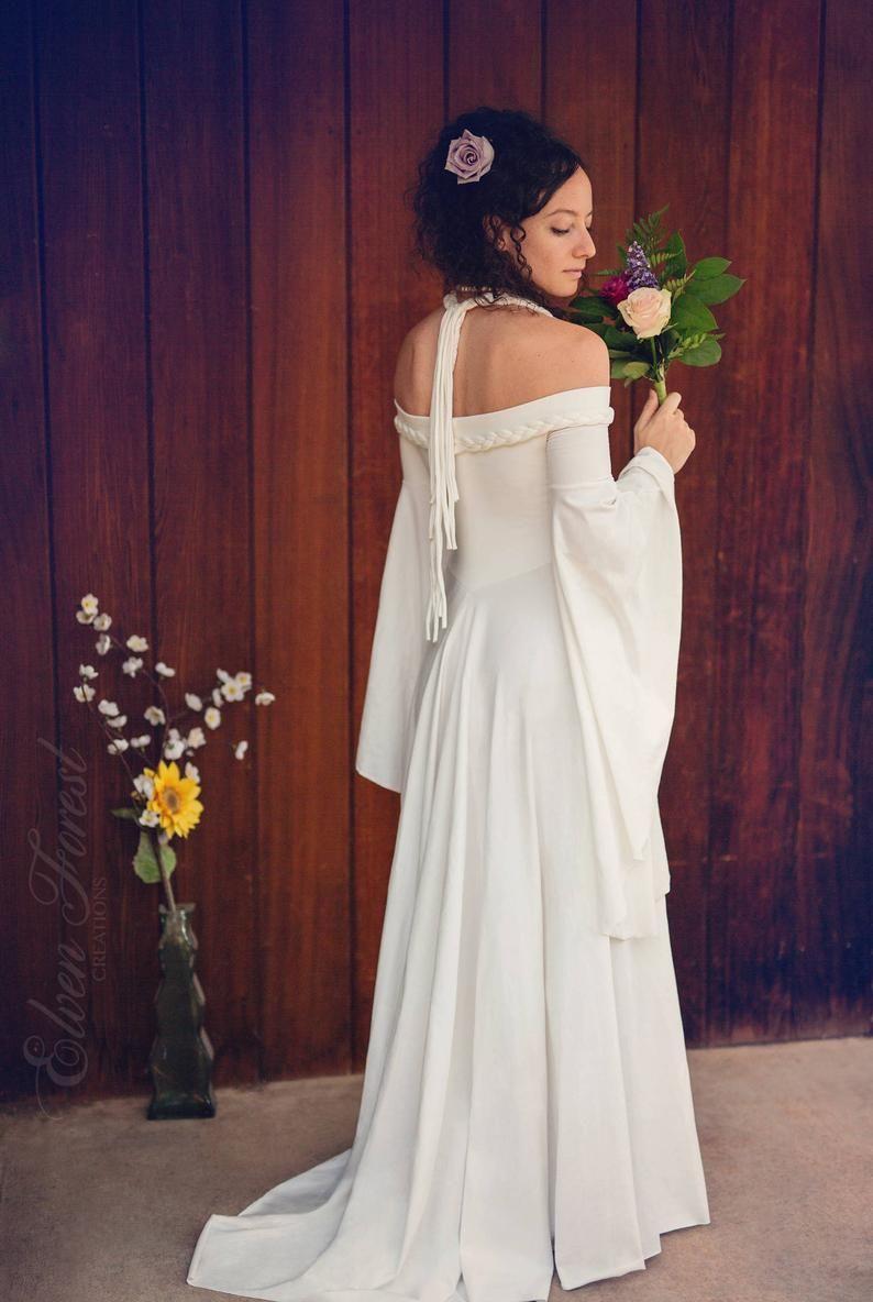 34+ White elven wedding dress info