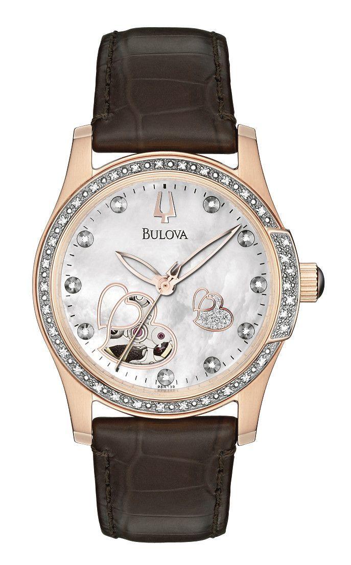 Bulova 98R139 Women's Automatic Diamond BVA Series 130 MOP Watch