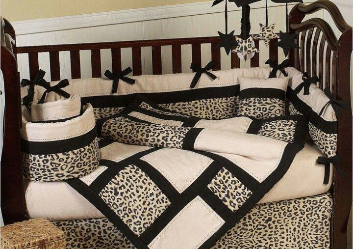 Leopard Print Nursery Yes Please Crib Bedding Sets