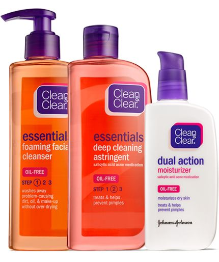 Clean And Clear 3 Step System Combo Skin Care Essential Skin Care Routine Wedding Skin Care Routine