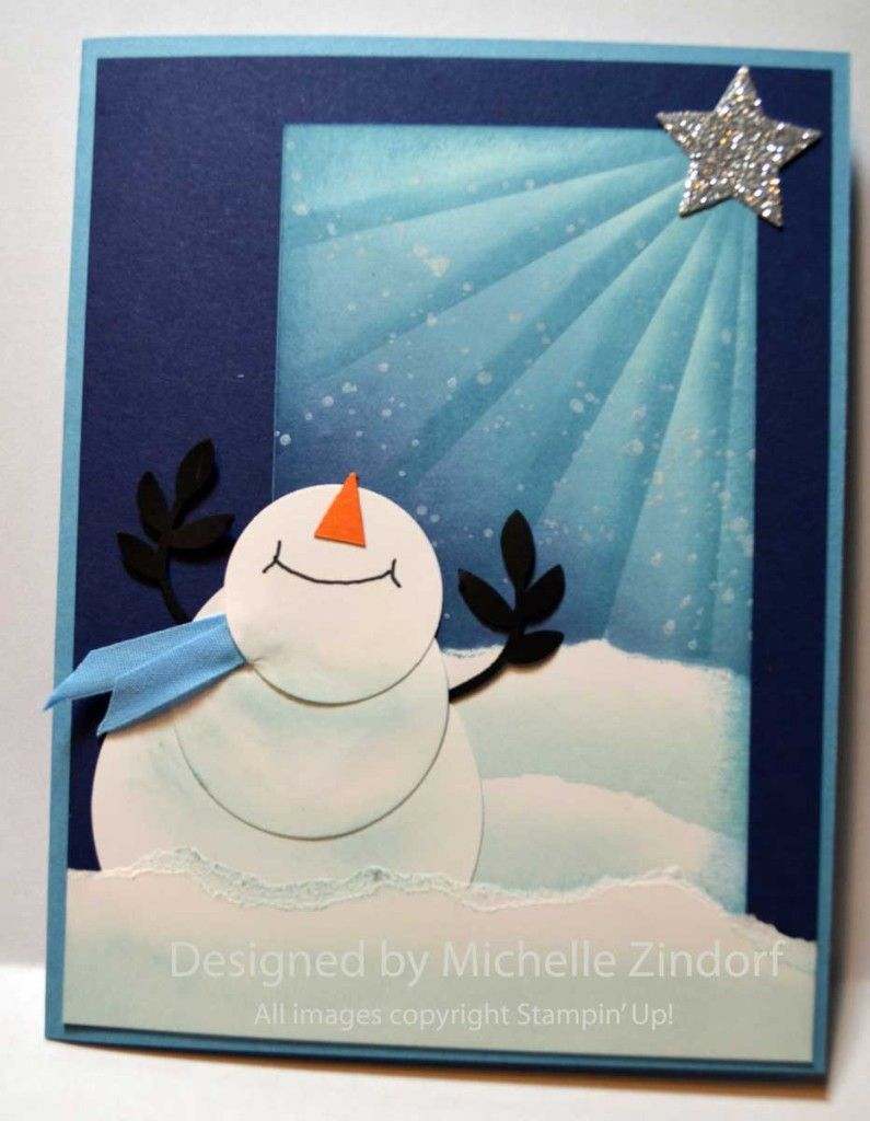Delighted Snowman Stampin' Up! Card created by Michelle Zindorf