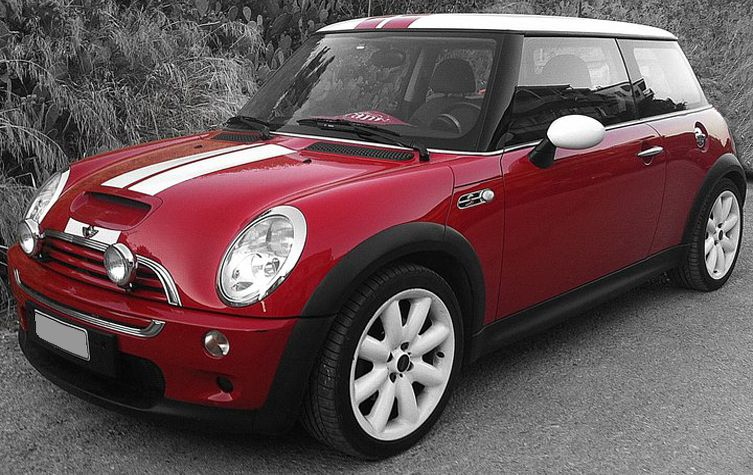 My Mini Cooper S With White Red Stripes Love It