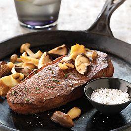 Photo of Skillet Steaks with Sautéed Wild Mushrooms