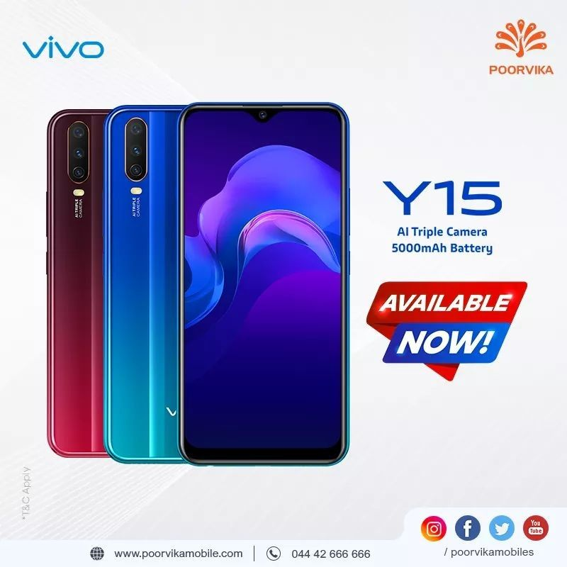Get The Latest Vivo Y15 With Ai Triple Camera 5000 Mah