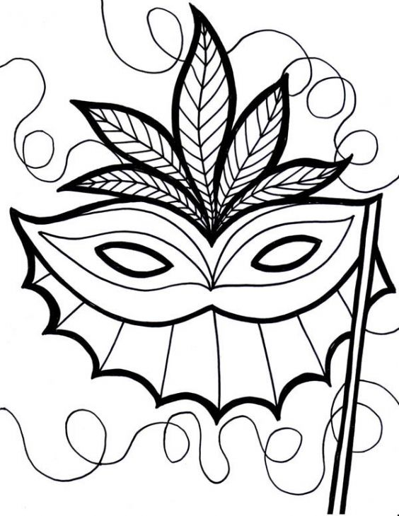 Free Mardi Gras Coloring Sheet To Print For Kids | Holiday Coloring ...