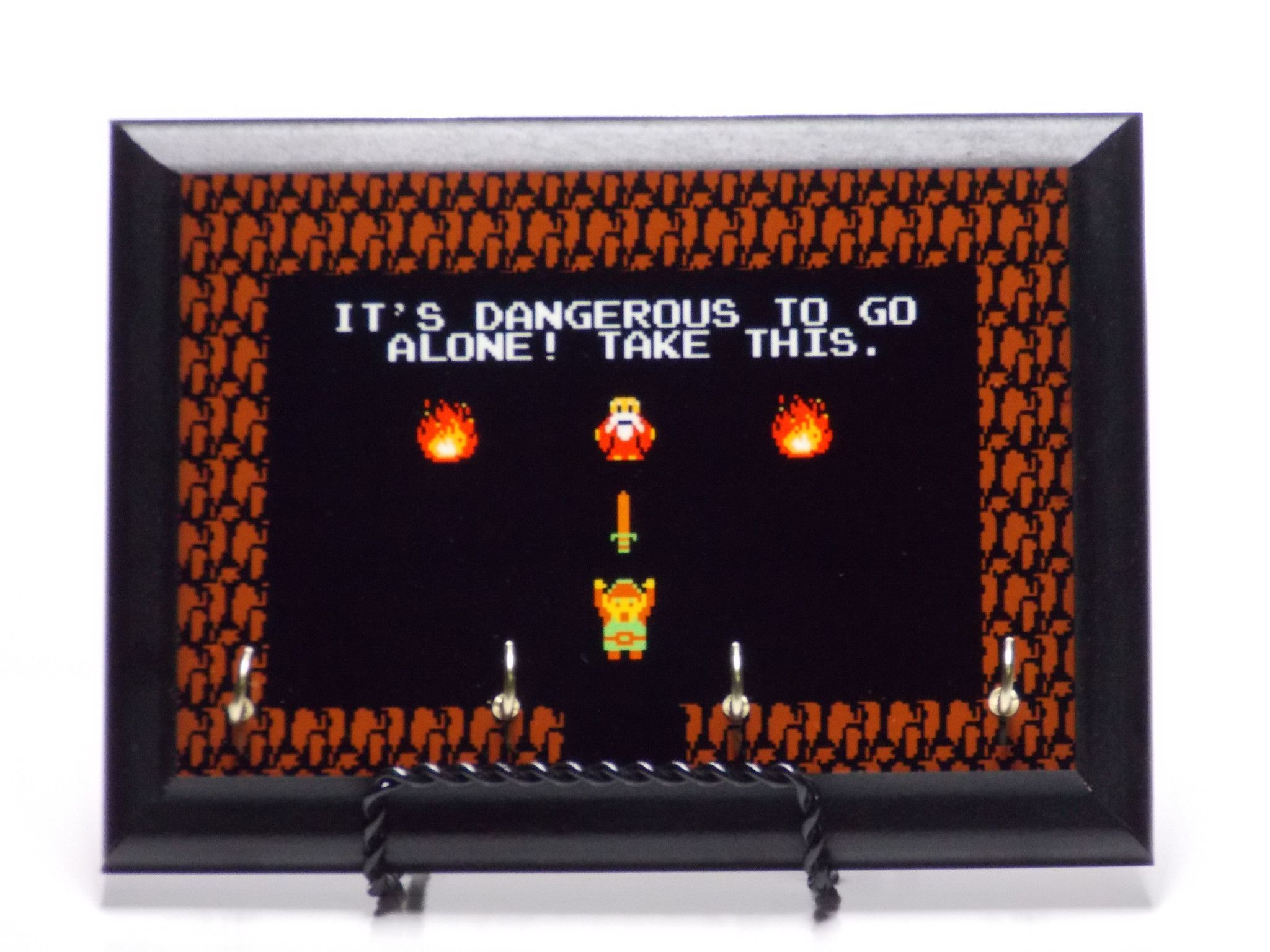 It S Dangerous To Go Alone Retro Zelda Nerdy Wall Plaque Key