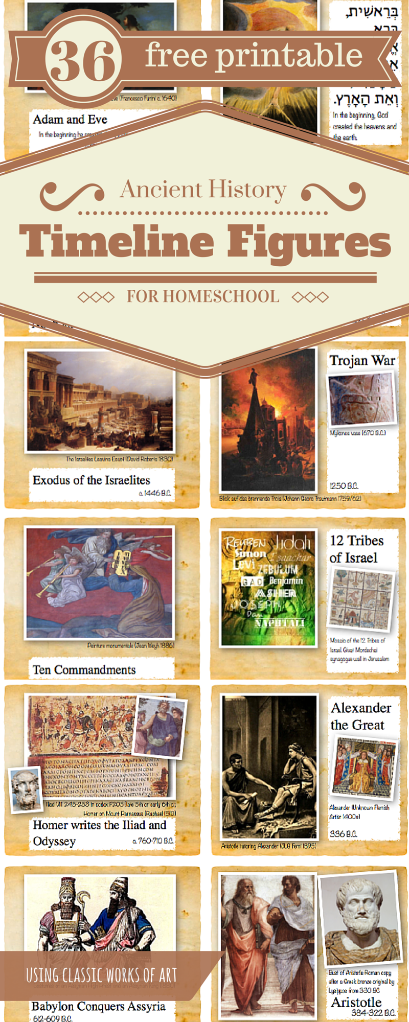 Ancient History Timeline Figures of the OCD Homeschool Mom Classical Style #history