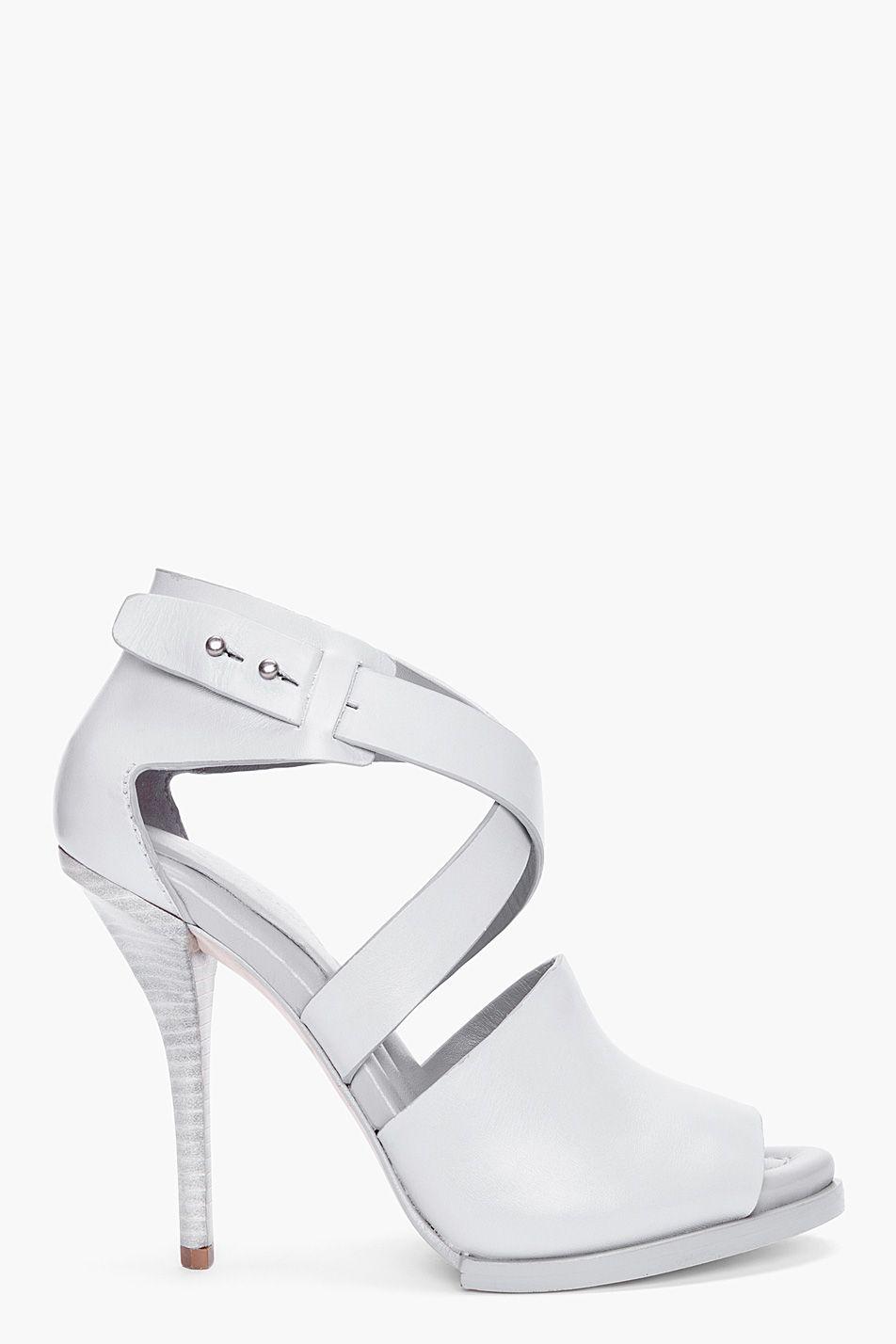 ALEXANDER WANG Grey Delphine Oyster Heels