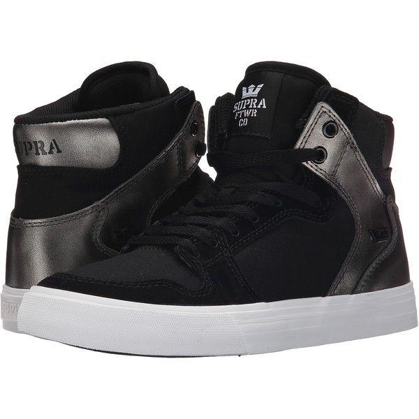 Supra Vaider (Black Gunmetal White 2) Women s Skate Shoes ( 63 ... 859588e0f41d