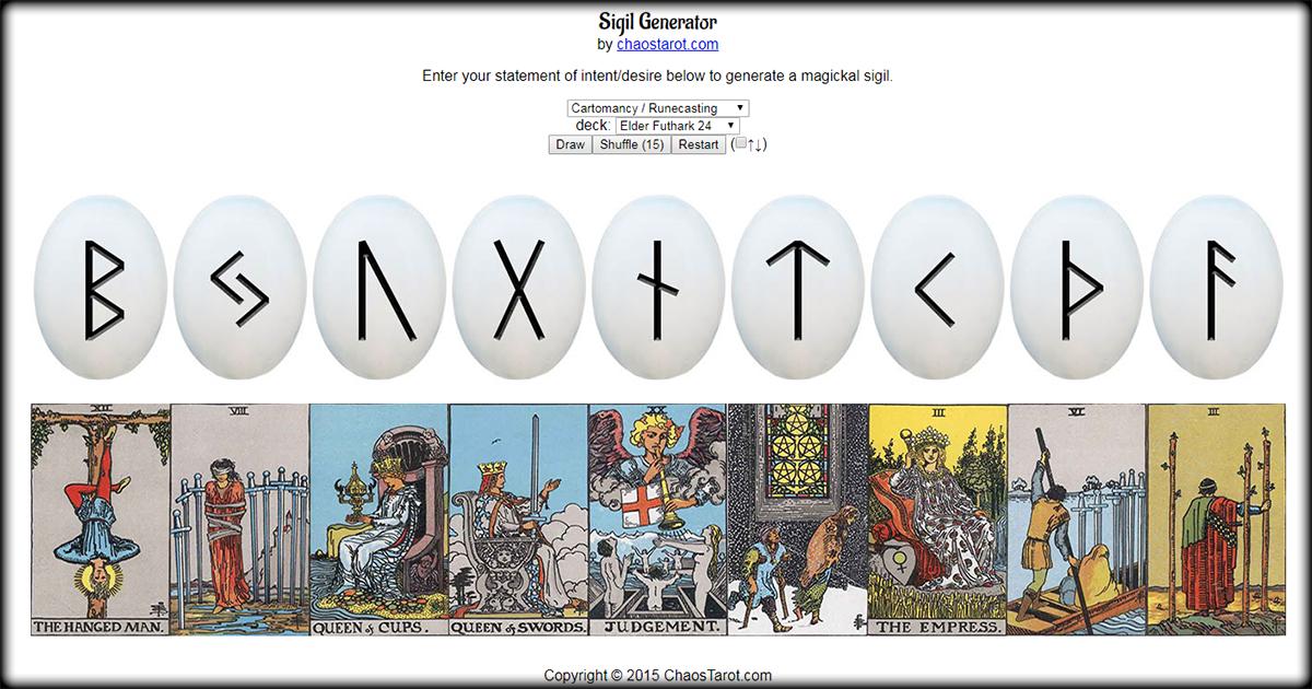 Futhark App Cast The Elder Futhark Online Virtual Runecasting Elder Futhark Chaos Magick Cartomancy