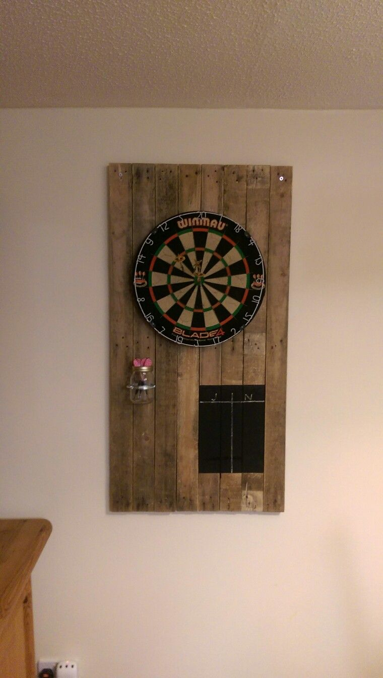 finished dart board
