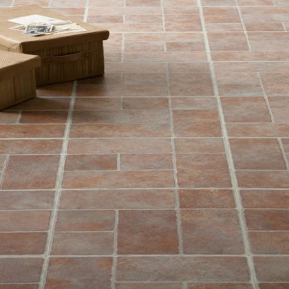Stone Brick Effect Vinyl Tile 0 56 Sqm Per Pack Homebase