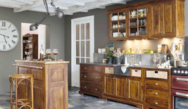 quelle couleur avec des meubles rustiques dans une cuisine cuisine et d co. Black Bedroom Furniture Sets. Home Design Ideas