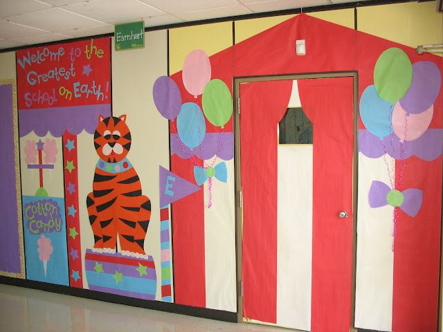 Circus Classroom Decoration Ideas : Circus themed school hallway decorations teacher time