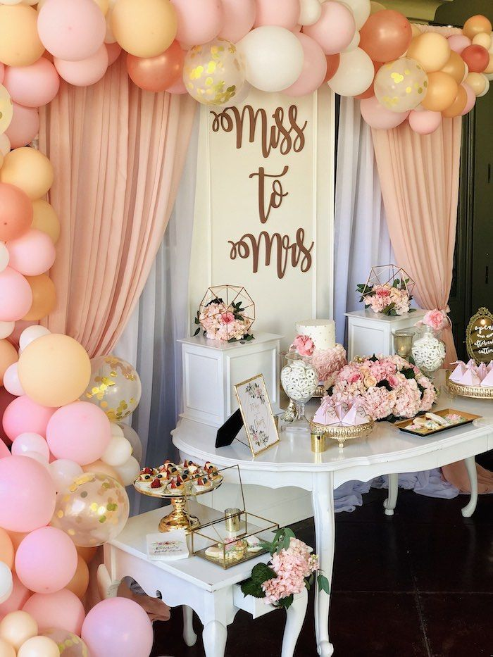 Elegant Miss to Mrs Bridal Shower Brunch | Kara's Party Ideas