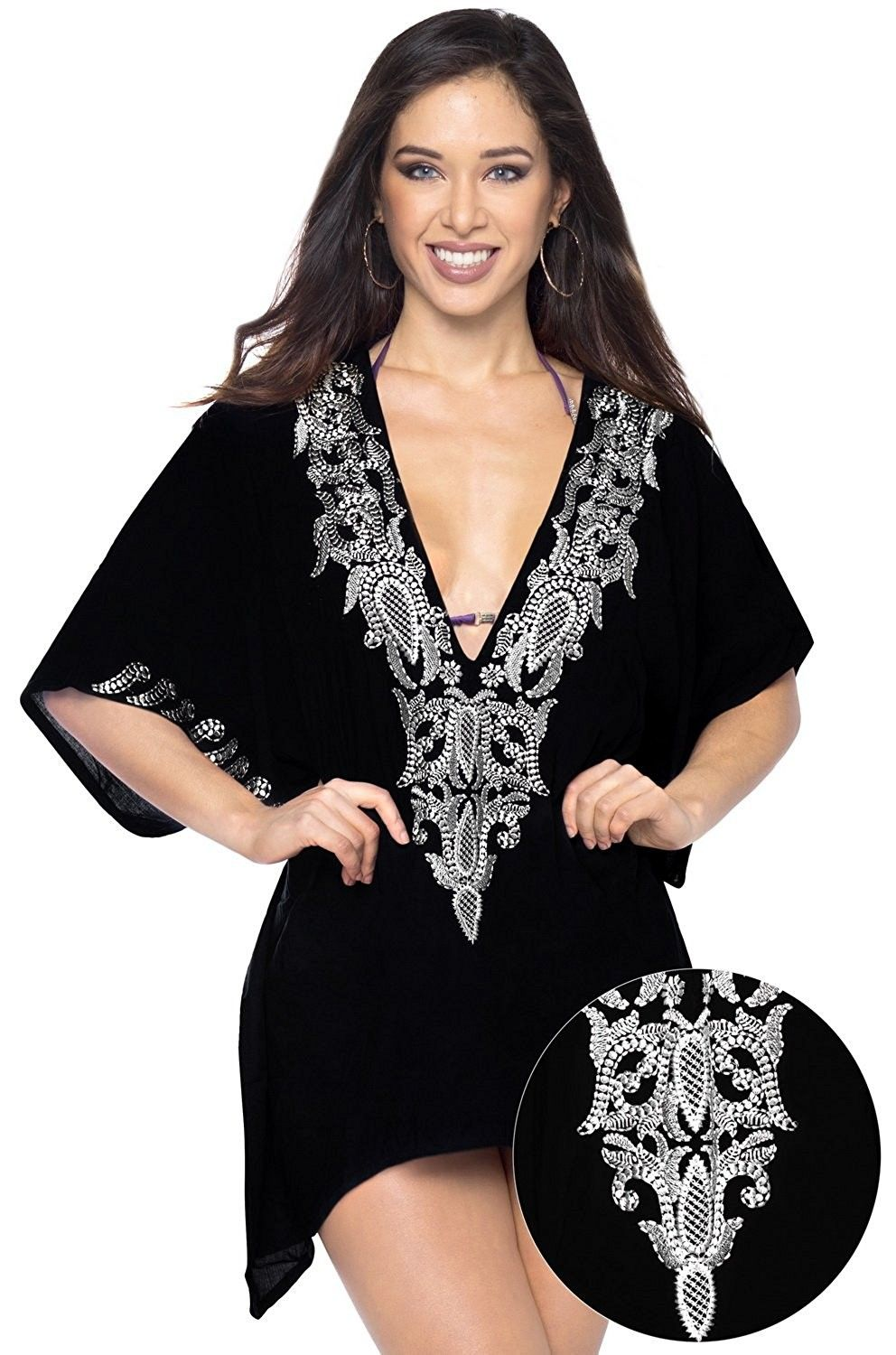 swimsuit cover up dress with pockets