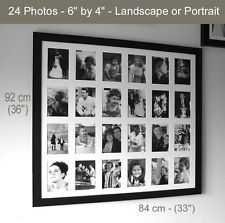 memories photo frames black or white various sizes multi aperture - Multi Picture Frames