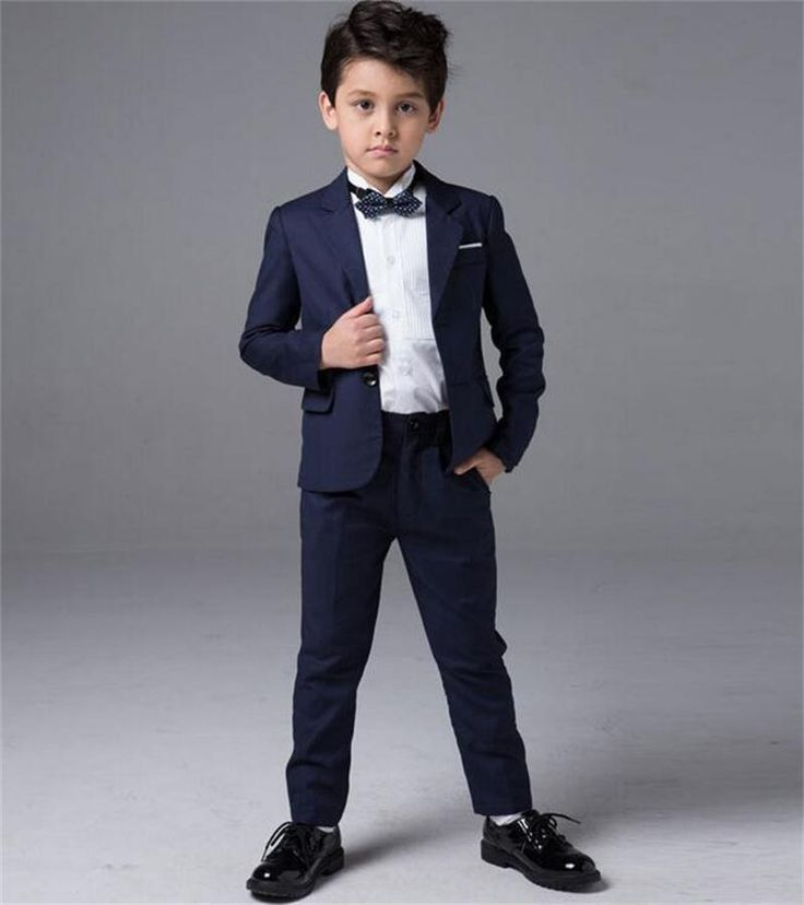 Boys Kids Formal Shirts With Tie Page Boy Prom Party Wedding Smart Suit Shirt