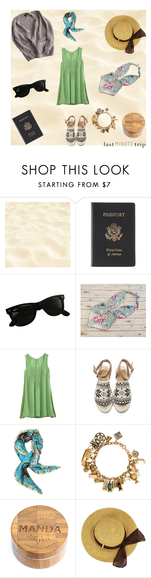 """on a whim"" by sabrina-fatma-ahmad ❤ liked on Polyvore featuring Royce Leather, Ray-Ban, Calypso St. Barth, Christian Lacroix, Topshop and lastminutetrip"