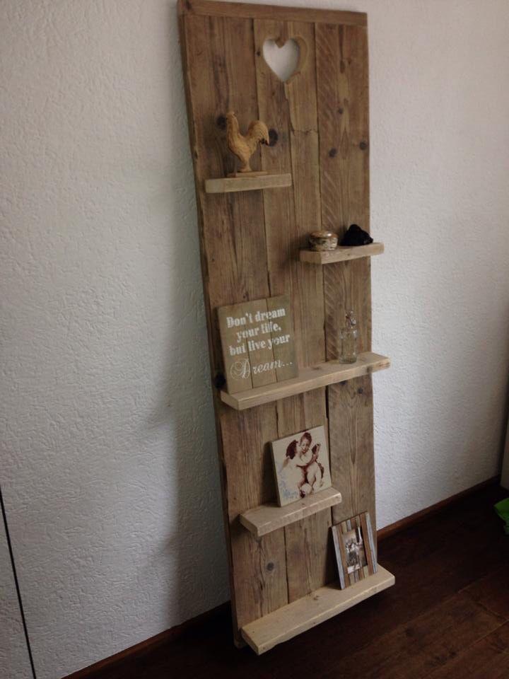 Wandbord oud steigerhout wandbord steigerhout pinterest borden voor het huis en interieur - Interieur oud huis ...