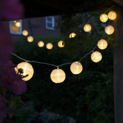Charmant Qualizzi® Set Of 10 Warm White Chinese Lantern String Lights For Patio Long    Plug In Connectable U0026 Expandable Up To 162 Ft / 150 Lights