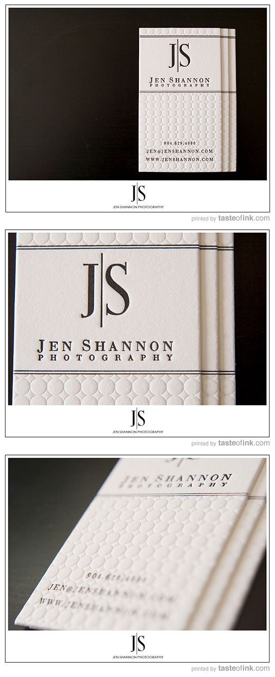 Business card inspiration jennifer shannon white and letterpress business card inspiration jennifer shannon white and letterpress embossed clean design reheart Gallery
