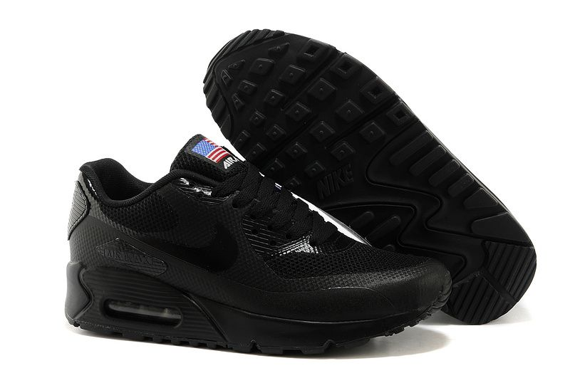 outlet store 5a053 ec61f Nike Air Max 90 Hyperfuse Prm QS Womens All Black