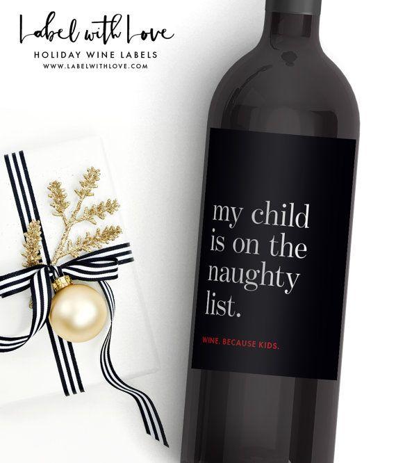 funny christmas gift wine