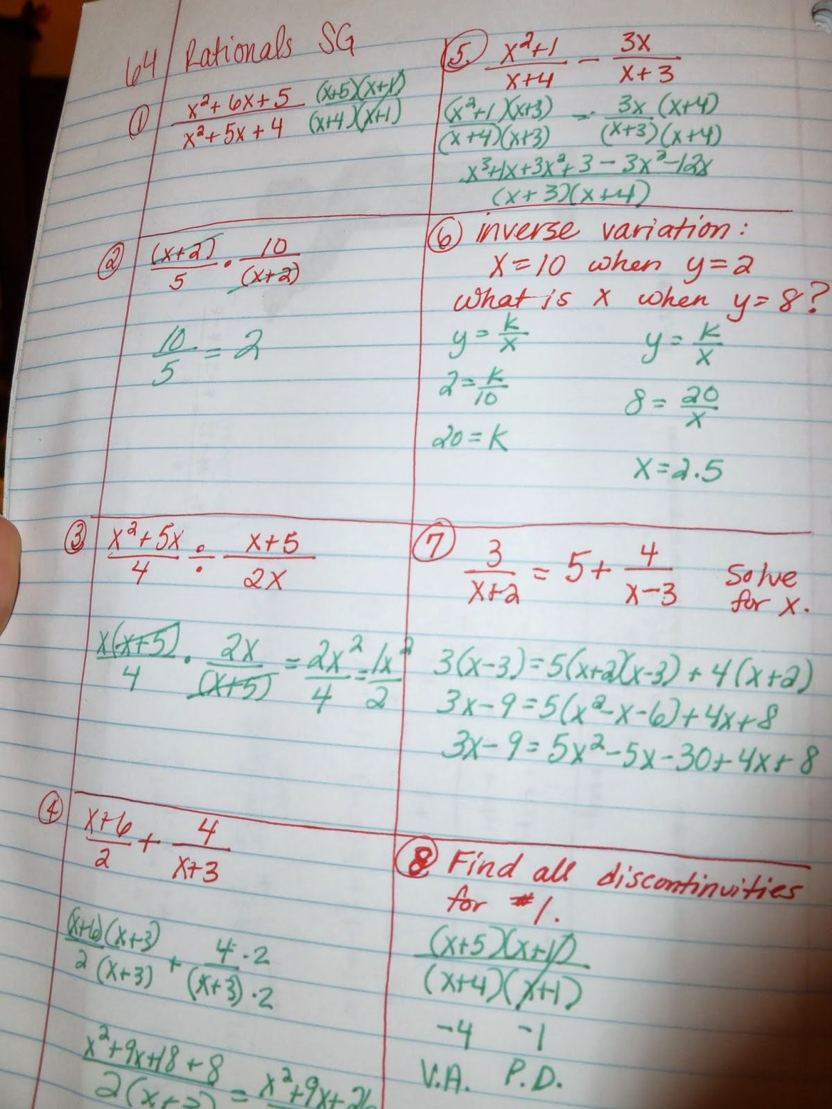 Fresh Ideas - Learning with Tape 2013 Algebra 2 Pages Algebra