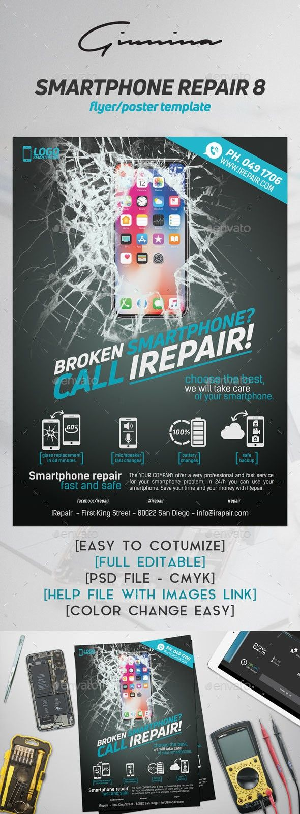 Battery Broken Case Cellular Cover Damaged Display Electronics Fast Fix Flyer Glass Mobile Pad Phone Phones Smartphone Repair Repair Smartphone