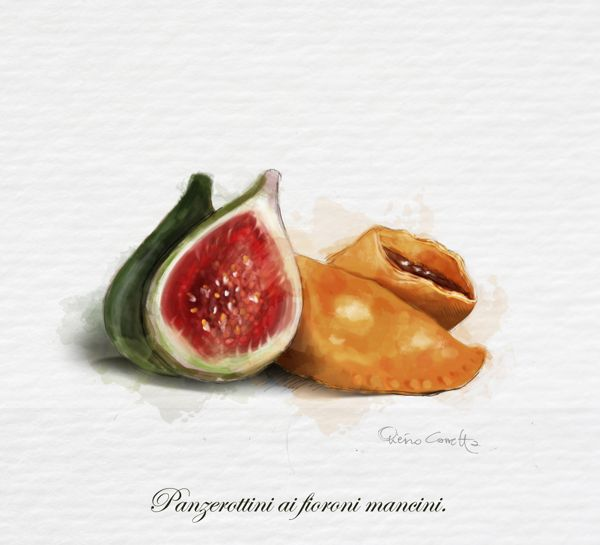 Watercolor Illustration for Cucina Mancina