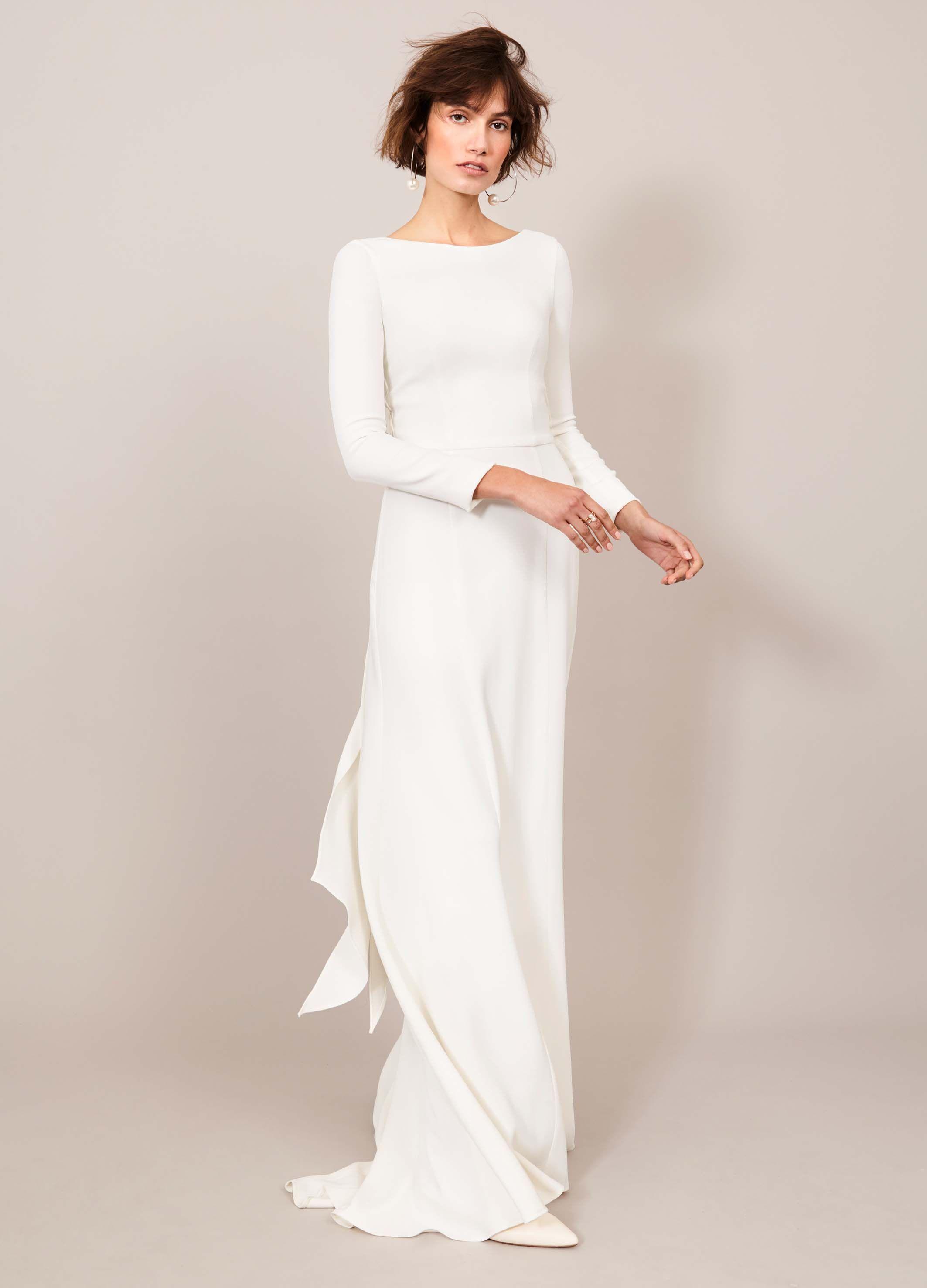 PURE PALAIS DRESS // Modernes Brautkleid mit Rückenausschnitt von