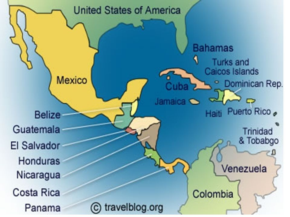 Map Of Mexico And Central America map of central america and the ...