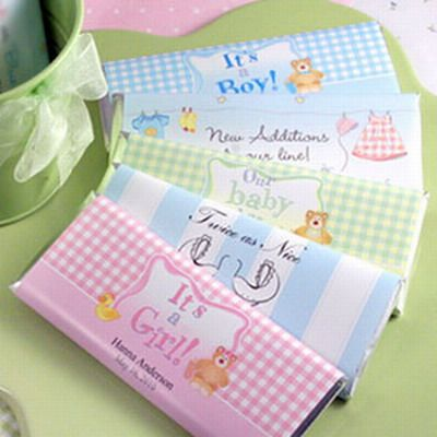 107955a481a36 Como hacer invitaciones de chocolates para Baby Shower